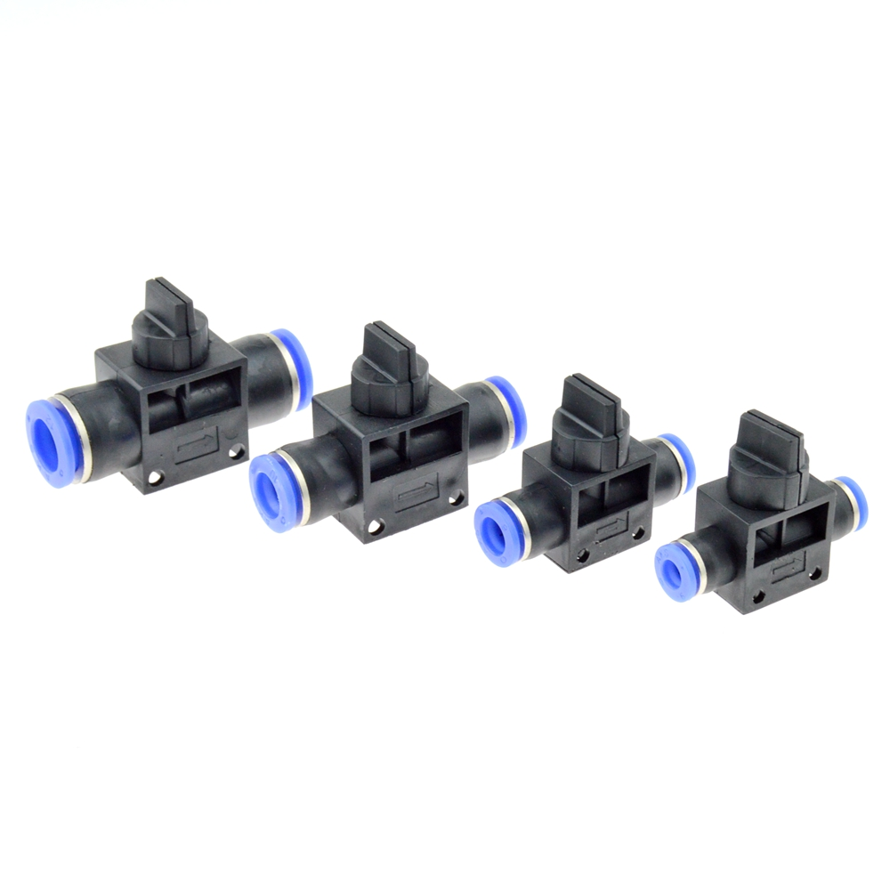 Air Pneumatic Hand Valve Fitting 10mm 8mm 6mm 12mm OD Hose Pipe Tube Push Into Connect T-joint 2-Way Flow Limiting Speed Control air pneumatic connector 6mm od hose tube push in m5 1 8 1 4pt 3 8 1 2 bspt male thread l shape gas quick joint fittings