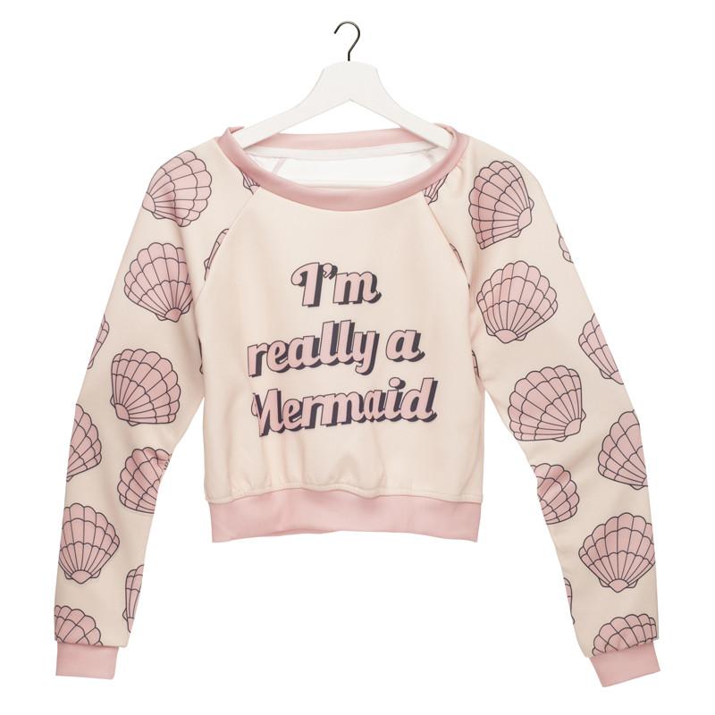 HTB1EGehLXXXXXb7aXXXq6xXFXXXZ - Women Sweatshirt Mermaid 3D Printed girlfriend gift ideas