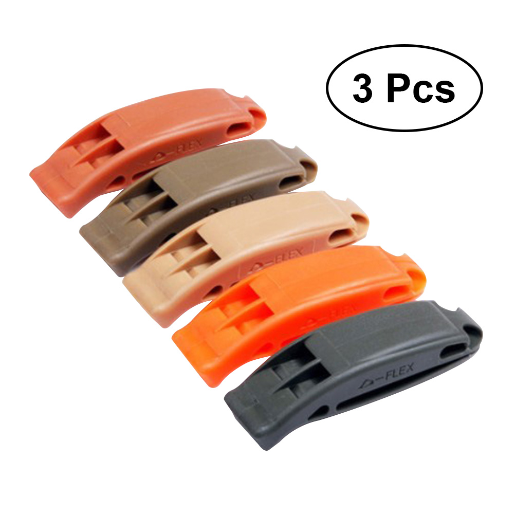 3 Pcs Whistle Practical Lightweight Portable Whistle Emergency Whistle Plastic Whistle For Training Activities Life Saving