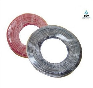 red/black 4 square 20 meters/lot solar PV cable,Aging resistance
