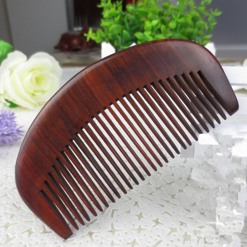 5pcs Natural Laos red wood Comb for hair head Massage Wide Tooth No-static Hair Brush Wooden Combs long peine hairbrush massage