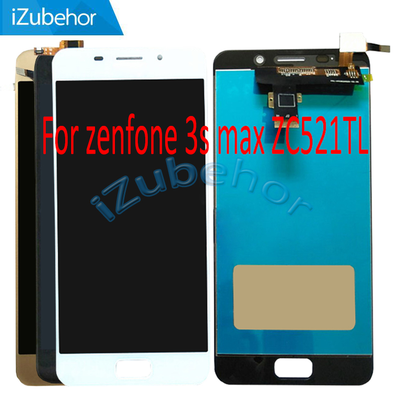 5.2 inch display screen For <font><b>ASUS</b></font> Zenfone <font><b>3S</b></font> <font><b>MAX</b></font> ZC521TL lcd + touch screen Digitizer panel Assembly X00GD lcd free shipping image