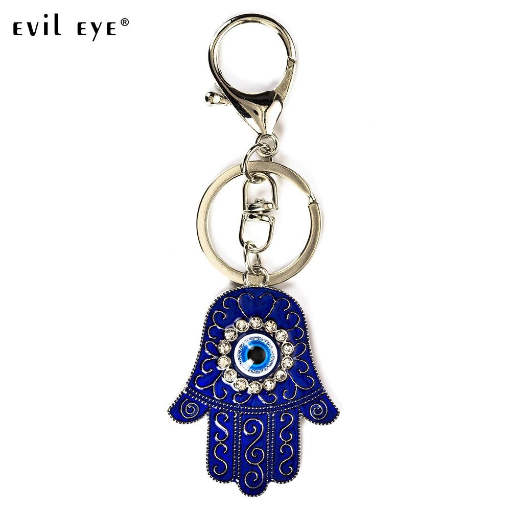 EVIL EYE NEW Arrival Hand Of Fatima Eyes Pendant Metal Pendant Key Holder Gift Jewelry Chaveiro Llaveros Porte Clef EY5176