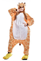 Halloween Costume Giraffe Onesies Anime Kigurumi Pajamas Animal Cosplay Costume Men Women Adult Jumpsuit Sleepwear