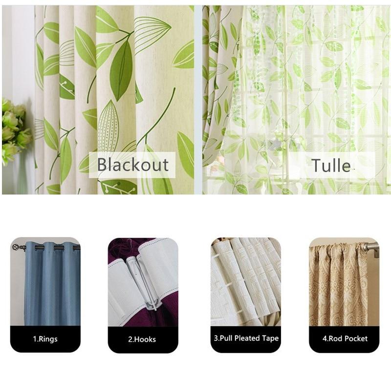 [byetee] Medvilnės drobė Modernus užuolaidų kambario užuolaidų - Namų tekstilė - Nuotrauka 6