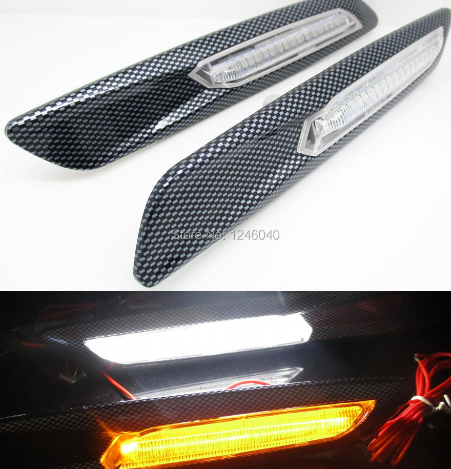 2pcs One Pair F10 Style Led Fender Side Marker Light Turn