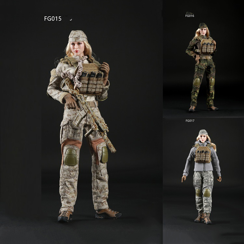 1/6 Scale Women's Tactical Shooter Camouflage Suit for 12inch Action Figure DIY Bodies Accessories 1 6 scale camouflage suit fg015 desert
