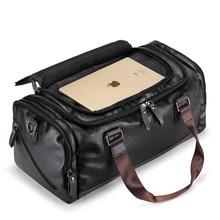 Купить с кэшбэком New Fashion Quality Travel Bag PU Leather Couple Travel Bags Hand Luggage For Men And Women Duffle Bag Travel 2018