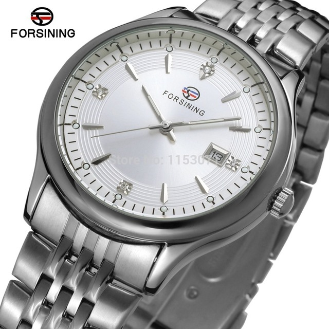 US $15 6 40% OFF|FSG8088Q4S1 new quartz stainless steel bracelet watch with  with silver color bars index high quality best price free shipping-in