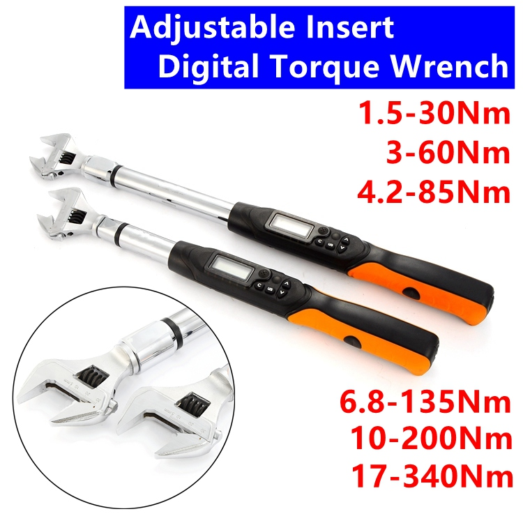 цена MXITA Adjustable Interchange Digital torque wrench Professional Electronic Torque Wrench Bike car Repair Torque Tool