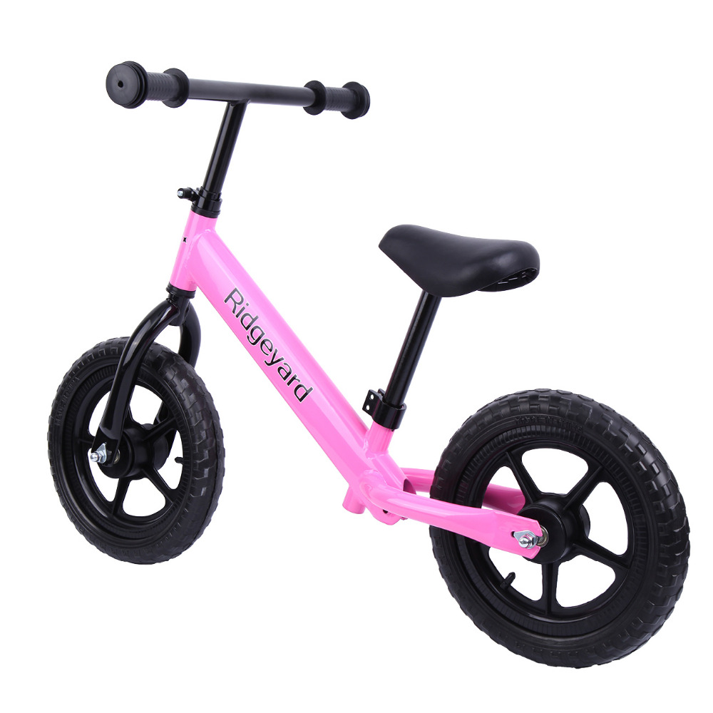 (Shipping From AUD ) Pink 12 Kids Balance Bike Child Push No Pedal Scooter Training Bicycle 2 wheel electric balance scooter adult personal balance vehicle bike gyroscope lithuim battery