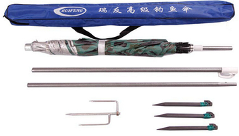 1.8M Diameter Iron rod Fishing Umbrella UV Protection Camping awning Beach Sunshade folding umbrellas