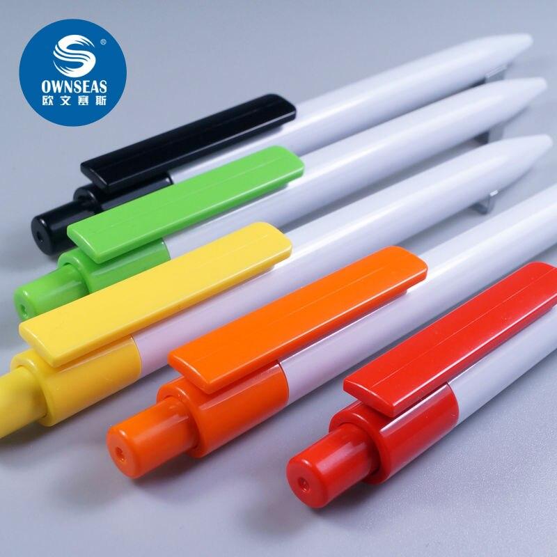 200 шт./лот белый цвет шариковая ручка индивидуальный логотип акции ручка canetas офисные продукты ...