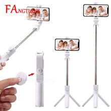 3 in 1 Handheld Bluetooth Selfie Stick For iPhone X 8 7 6s plus Wireless Remote Shutter Monopod Portable Extendable Mini Tripod