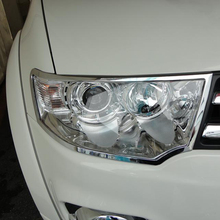 ABS Chrome Headlight Cover For Mitsubishi Pajero Sport 2014 Exterior Car Accessories
