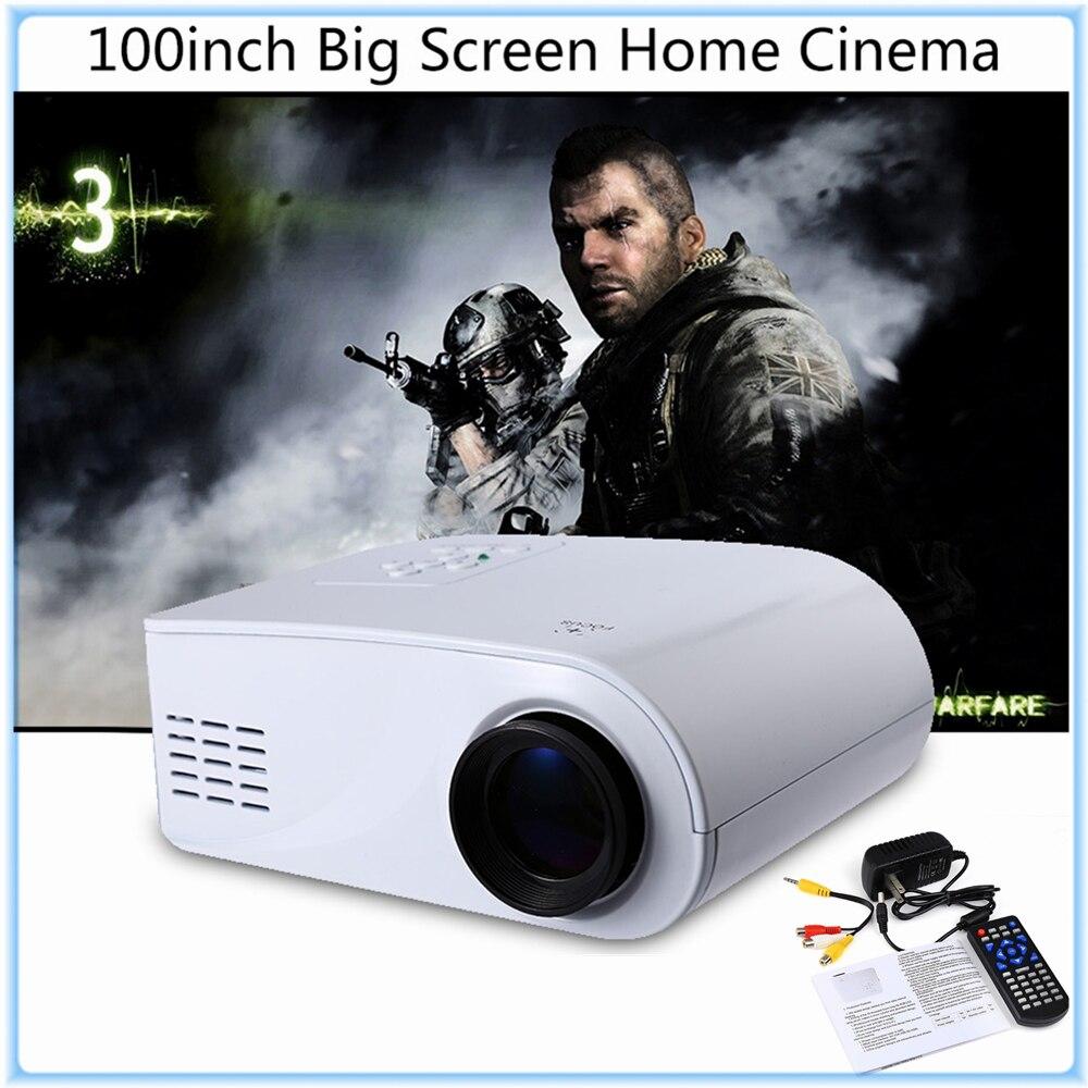 Original X6 Mini Portátil 3D Proyector 80 Lúmenes HD Proyector de Cine En Casa P