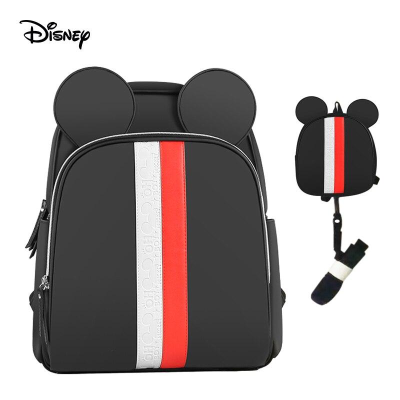 Disney bébé dessin animé Mickey sac maman poussette alimentation couche sac à dos soin biberon isolation voyage sac 20-30L humide USB nappy sac