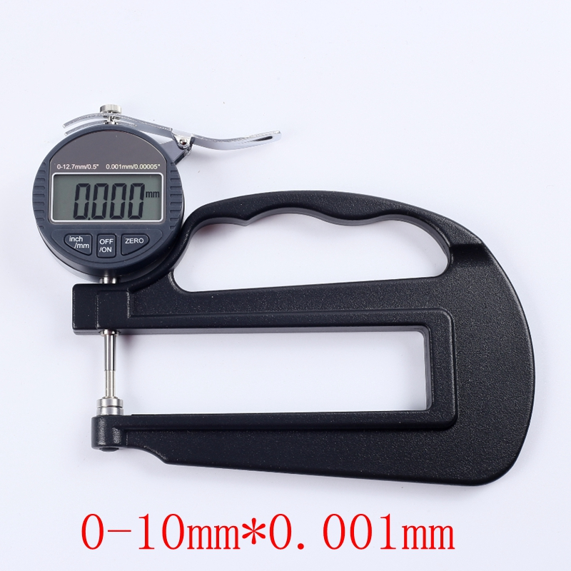 0.001mm Digital Thickness Gauge 0-10mm Electronic Micron Thickness Indicator Paper Leather Micrometer Measure Tools Depth:120mm цены