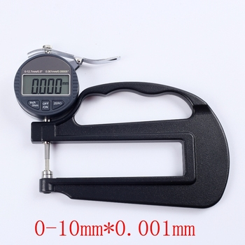 0.001mm Digital Thickness Gauge 0-10mm Electronic Micron Thickness Indicator Paper Leather Micrometer Measure Tools Depth:120mm