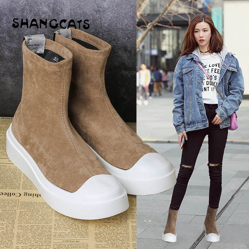 New Arrival Women Canvas Shoes 2018 Winter High Top Flats Women Vulcanized Shoes Fashion Cool Female Casual Shoes High Quality e lov new arrival luminous canvas shoes graffiti pisces horoscope couples casual shoes espadrilles women
