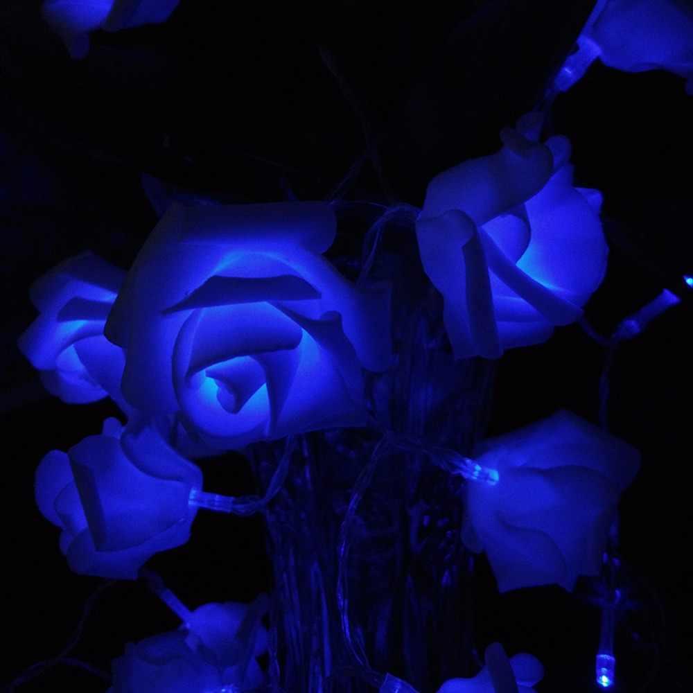 2017 День святого валентина Батареи Праздник Розы Света Шнура СИД Ferias Роза Гирлянды 5 М 50LED Luzes Cordas Bateria События стороны Света