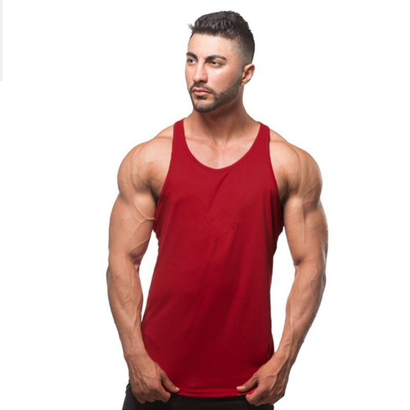 Summer fashion gyms Brand singlet canotte bodybuilding stringer   tank     top   men fitness vests muscle guys sleeveless vest