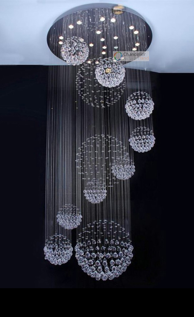 Aliexpress Buy Various Sizes Fit 110 240V Modern Spiral – Raindrop Chandelier Crystals