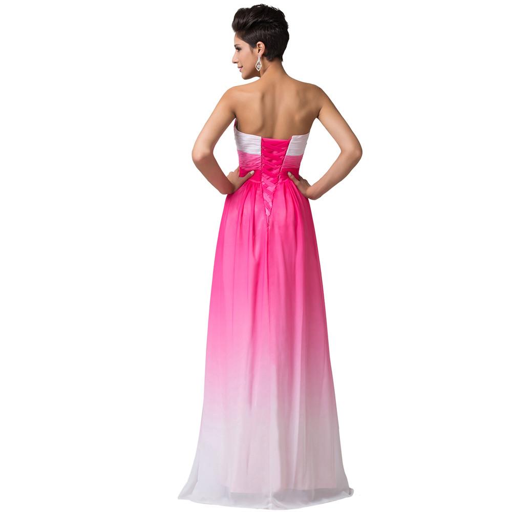 Grace Karin verano ombre gasa vestido de Damas 2018 de novia sin ...