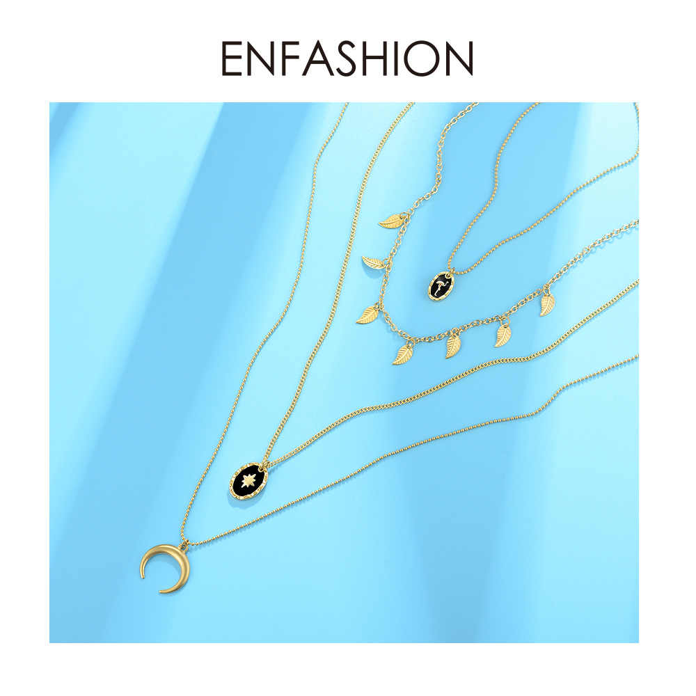 Enfashion Multi Layer Chain Necklace For Women Holiday Vintage Gold Color Long Bohemian Choker Necklaces Jewelry Gifts P193008