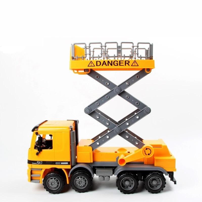 china cheap inertial sliding model cars childrens kids educational lift truck toy car as birthday present