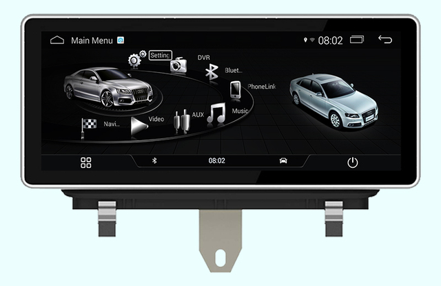 10 25 Quad Core Android 4 4 Car Dvd Gps Radio Navigation For Audi
