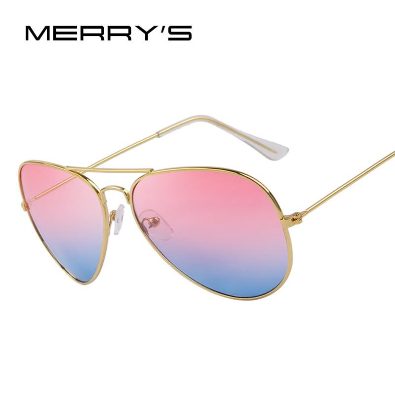 MERRY'S Moda Unisex occhiali da Sole Classic Sea Gradiente Shades Progettista di Marca occhiali da Sole UV400