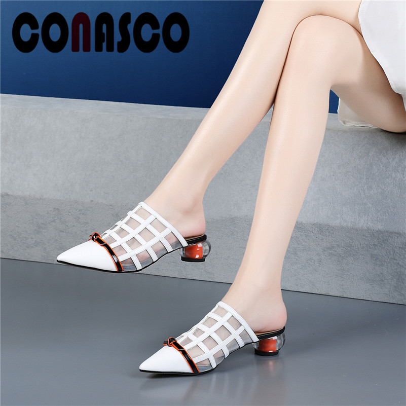 CONASCO Spring Summer Fashion Pumps Women Strange High Heels Pointed Toe Breathable Mesh Comfortable Elegant Pumps Shoes Woman CONASCO Spring Summer Fashion Pumps Women Strange High Heels Pointed Toe Breathable Mesh Comfortable Elegant Pumps Shoes Woman