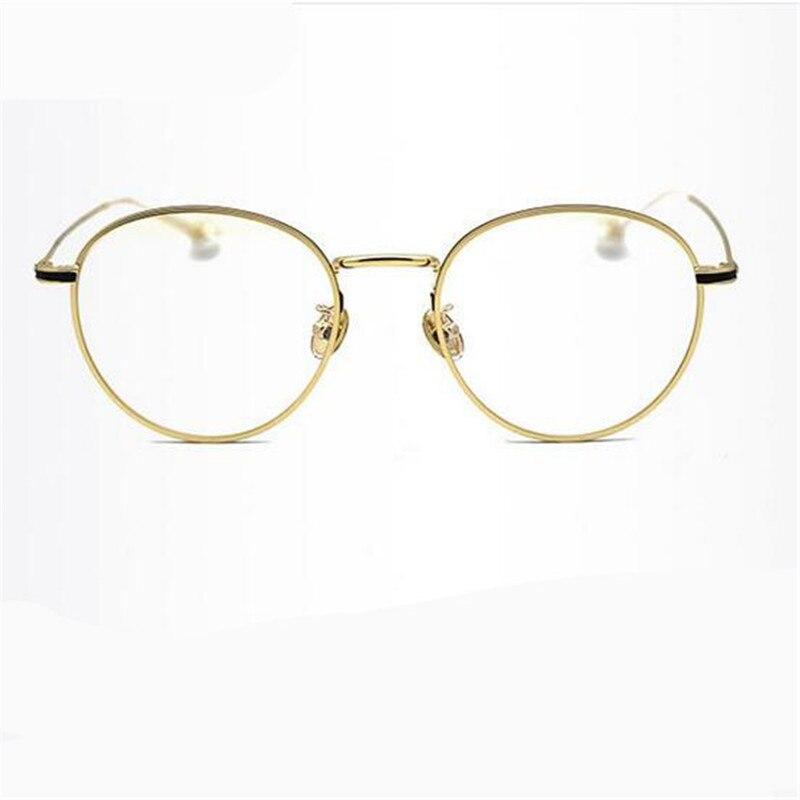 Kesmall verano gafas mujeres hombres retro metal Gafas Marcos ...