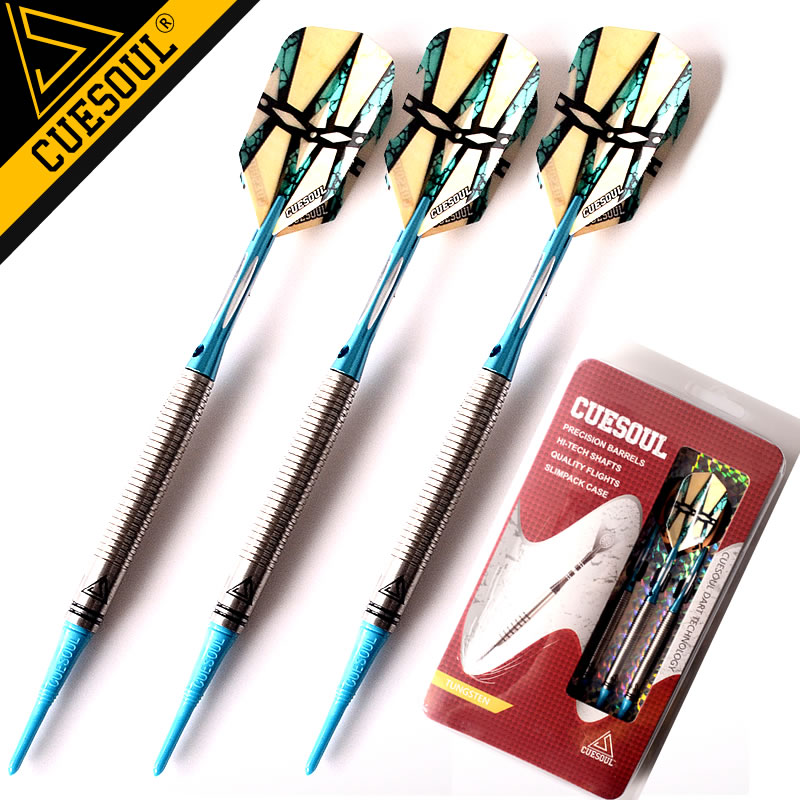 New CUESOUL Darts Tungsten Darts Soft Tip Darts 18g 15cm Electronic Dart With Aluminum Shafts cuesoul new tungsten steel tip darts armour series 21 23 grams