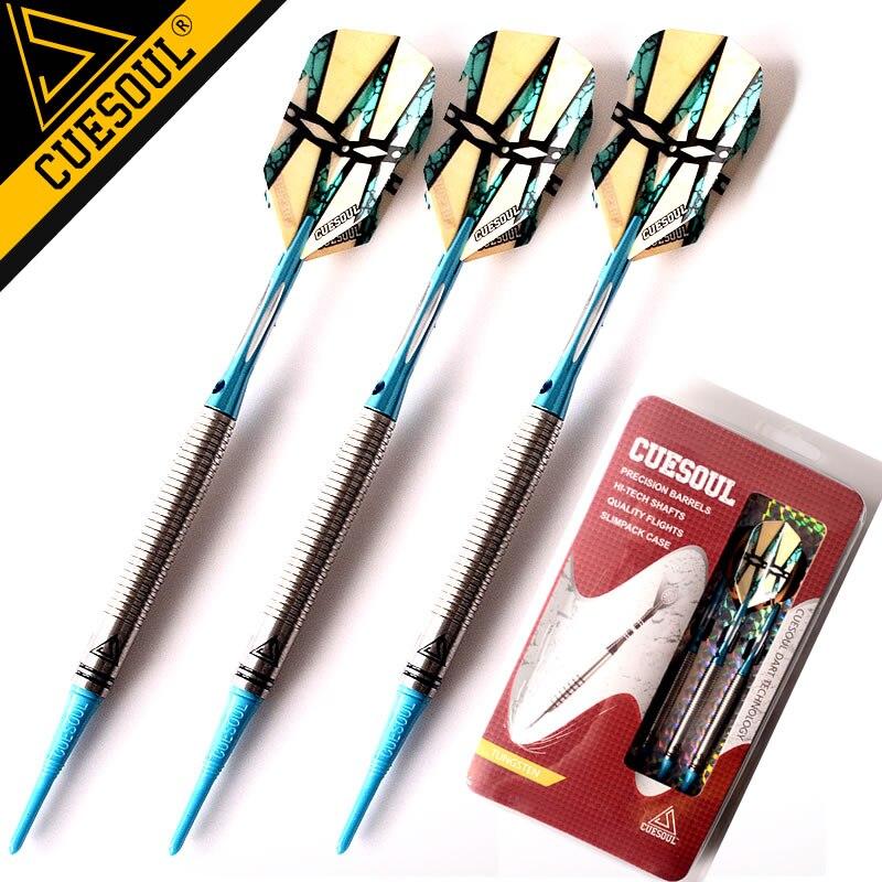 New CUESOUL Darts Tungsten Darts Soft Tip Darts 18g 15cm Electronic Dart With Aluminum Shafts cuesoul 3pcs set 18g professional soft tip darts hot sale tungsten darts with electronic dart needlecsar n2108
