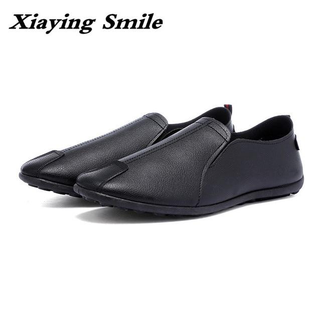 2017 אופנה קיץ עונה חדש שעועית עור נעלי רגל טיק עצלנים נוח נהיגה נעליים חיצוני נעליים יומיומיות