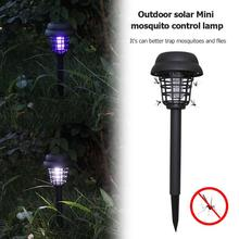 2PCS Mosquito Killer Solar LED Lamp Waterproof Garden Insect Fly Trap Light Solar Powered Outdoor Insect KillerPath Lighting