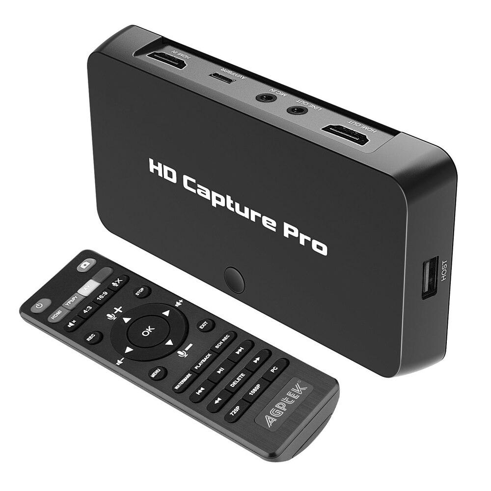 Ezcap295 HD Vidéo audio capture pro, convertir HDMI/YPbPr à HDMI/USB Flash disque, HDCP code, 1080 p pour matériel de jeu