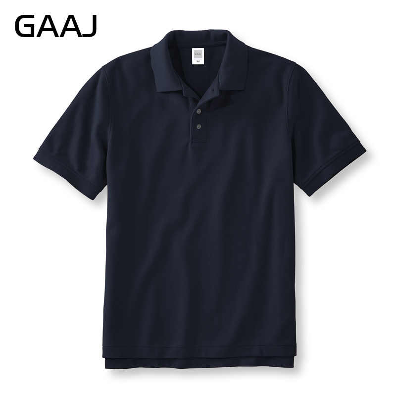 GAAJ % 100 pamuk Polo GÖMLEK erkekler 2020 marka gömlek adam kısa kollu yaz moda giyim şarap mavi gri kırmızı donanma erkek polos