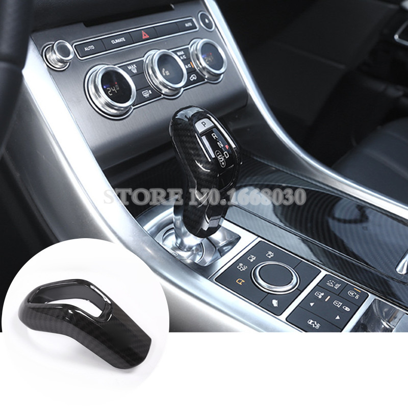 ABS Carbon Fiber Style Gear Stick Cover For Land Rover Range Rover Sport 2014 2017