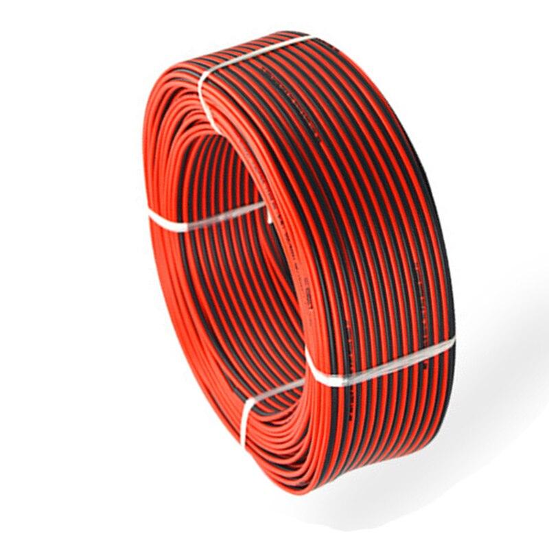 สายไฟ 2PIN LED สายไฟสีแดงสีดำไฟฟ้าทองแดงสายไฟ 2 พินสำหรับ Led Strip 5050 3528-ใน สายไฟและเคเบิล จาก ไฟและระบบไฟ บน AliExpress - 11.11_สิบเอ็ด สิบเอ็ดวันคนโสด 1