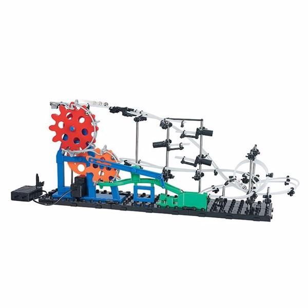 Spacerail novo nível 2 232-3 5600mm tempo de máquina erector set kit modelo de construção diy spacewarp roller coaster brinquedos educativos