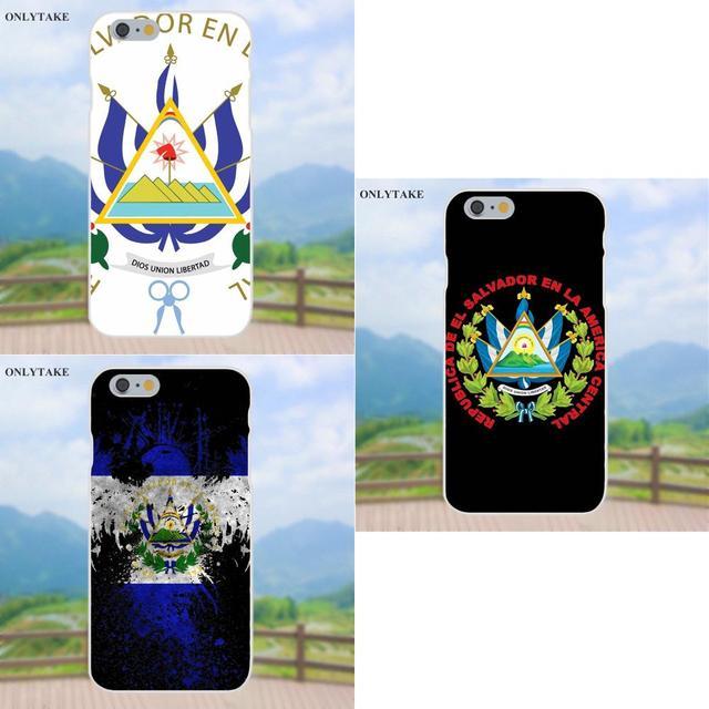 Untuk Apple Iphone X 4 4 S 5 5C Se 6 6 S 7 7 Plus Galaxy Grand Core II prime Alpha TPU Ponsel Cover Case El Salvador Coat Of Arms