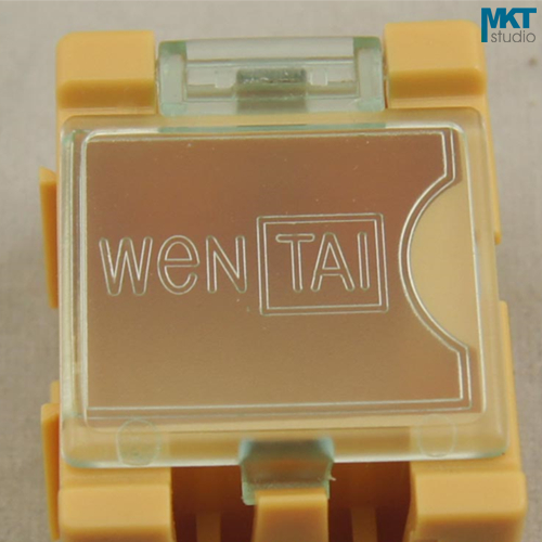 50Pcs 25mm*31.5mm*21.5mm Yellow Plastic Combinable Component Container Storage Box, IC Box, Electronic DIY Tools