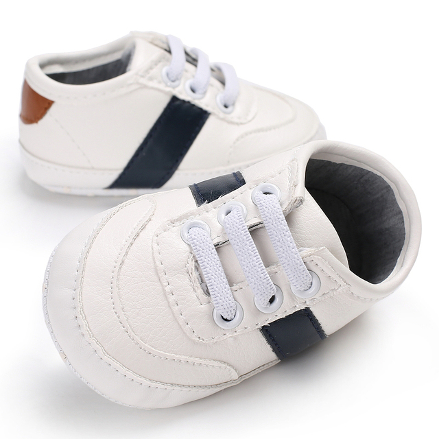 Fashion White PU Baby Sport Sneakers Boys Boots Classic Newborn Chaussures Infant Casual Booties Kids Shoes Crib Bebe Sapatinhos