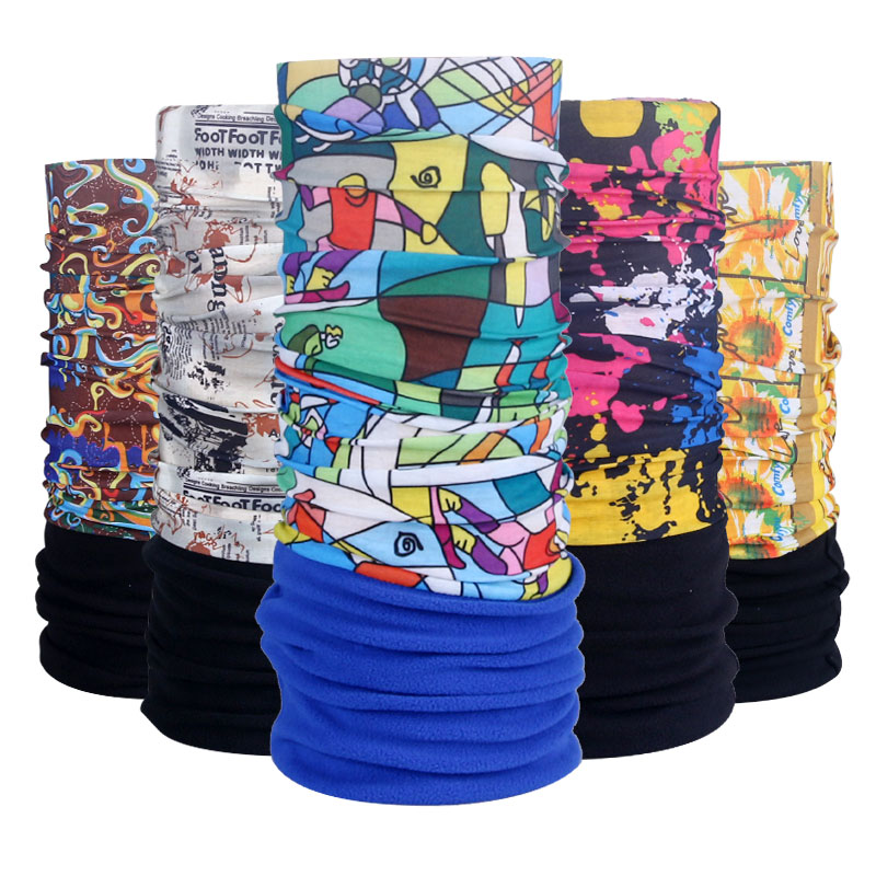 Cycling Fleece Bandanas Scarf Winter Headwear Wind Proof Neck Warmer Cycling Face Mask MultiFunction Bike Bicycle Cap Hat outdoor sport hiking warmer hat unisex outdoor winter autumn warm fleece cap cycling ski head neck warmer hat neckerchief