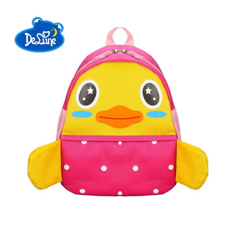 Delune Kids School Bags 2018 New Cute Cartoon 3D Animal Children School Bags for Boys Girls Child Lovely School Backpack Kid Bag