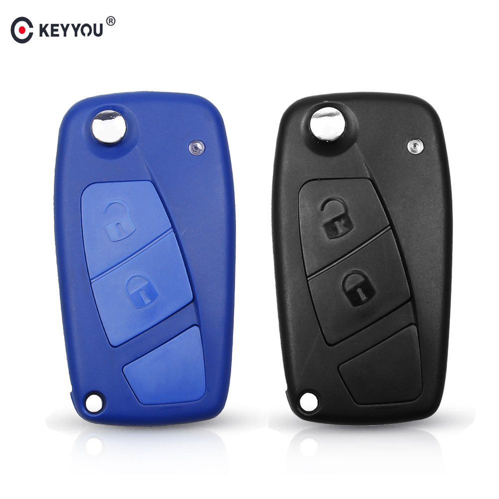 Button Replacement Remote Key Fob Case/&Blade For Fiat Punto Doblo Bravo Brava NS