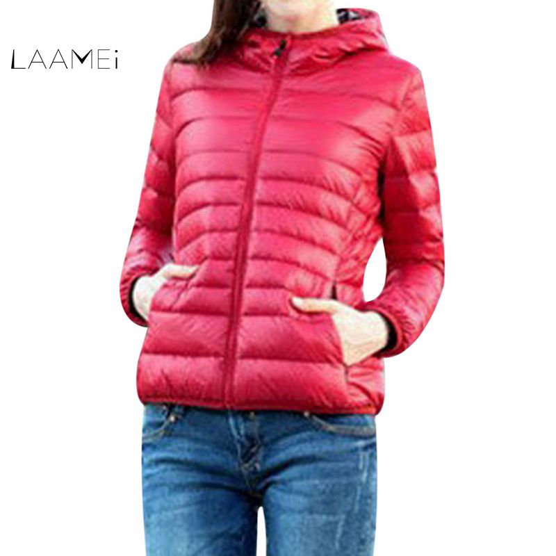 Laamei 2018 Fashion Hooded Women Winter   Jackets   Short Cotton Padded Womens Coat Casaco Feminino Solid   Basic     Jacket   Coat Parkas